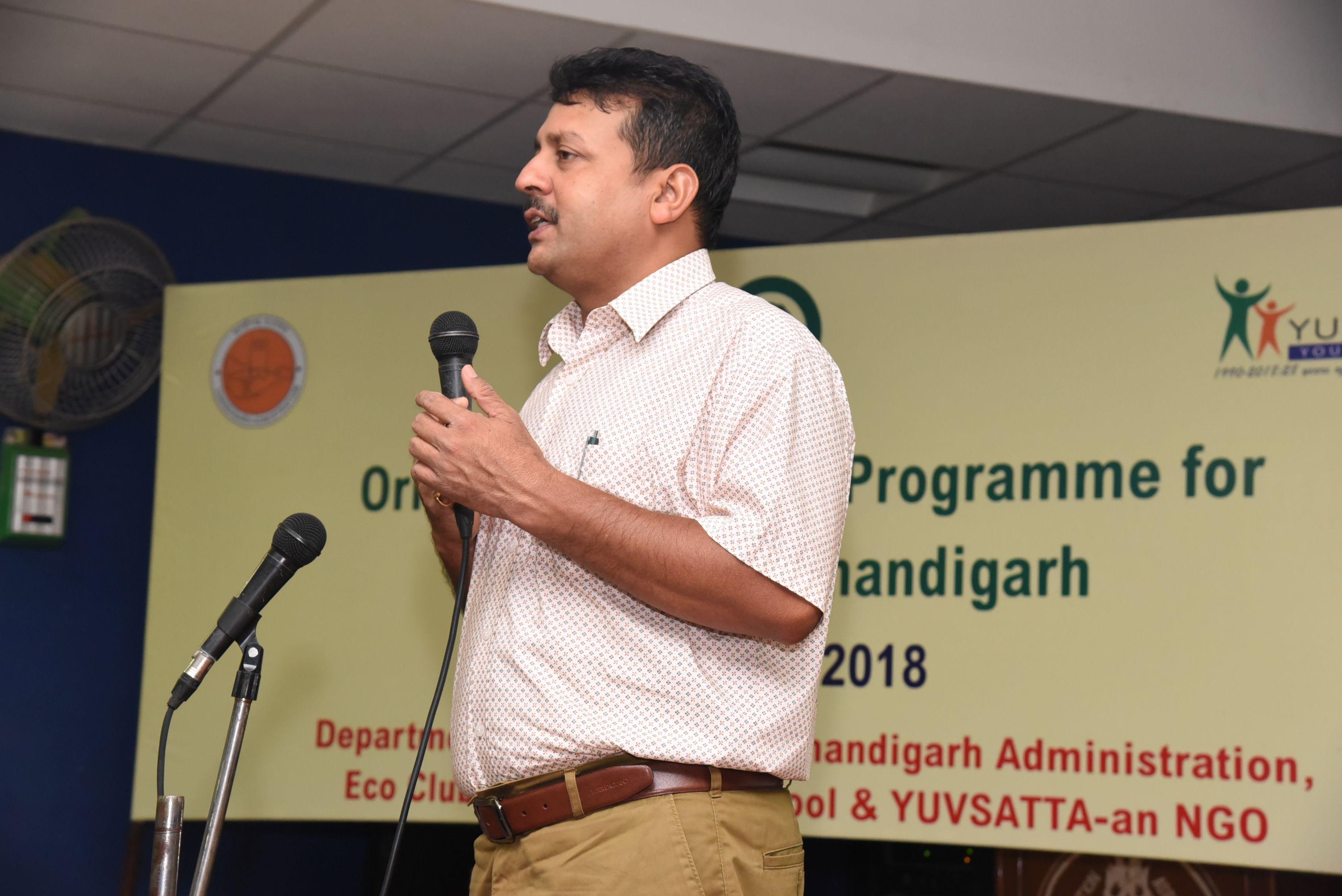 Mr. Santosh Kumar addressing the gathering